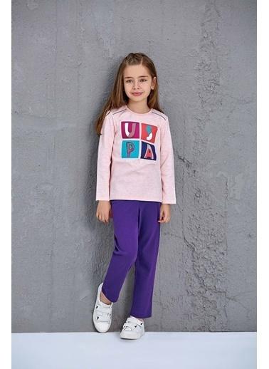 U.S. Polo Assn. Erkek Çocuk Pijama Takımı Pembe